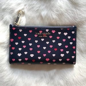 Kate Spade Sylvia's Lips Small Bifold Wallet
